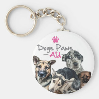 Help save the dogs with this lovely key ring basic round button key ring