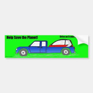 Help save the planet bumper sticker