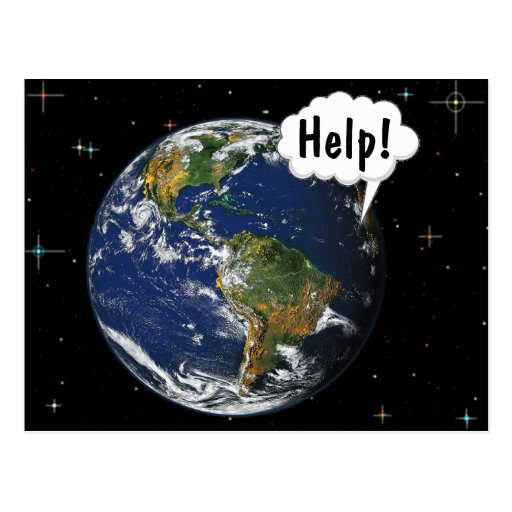 HELP! Save the World - Customized Postcard