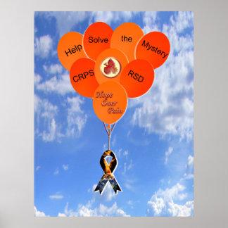 Help Solve the Mystery CRPS RSD Balloons Canvas Print