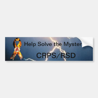 Help Solve the Mystery CRPS/RSD Blazing Ribbon Bumper Sticker