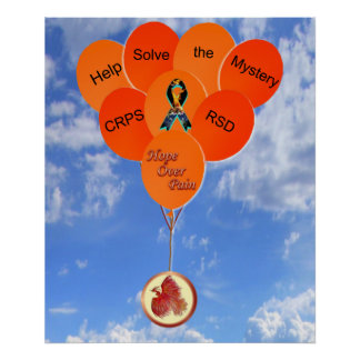 Help Solve the Mystery CRPS RSD Phoenix Balloons Poster