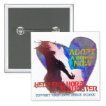 Help Stop Horse Slaughter 15 Cm Square Badge