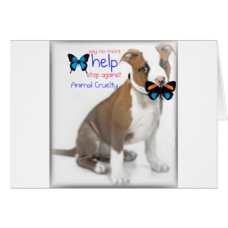 help support against animal cruelty cards