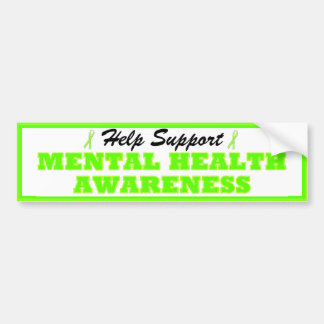 Help Support Mental Health Awareness Bumper Stckr Bumper Sticker