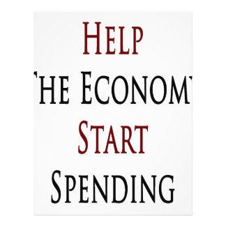 Help The Economy Start Spending Flyer Design