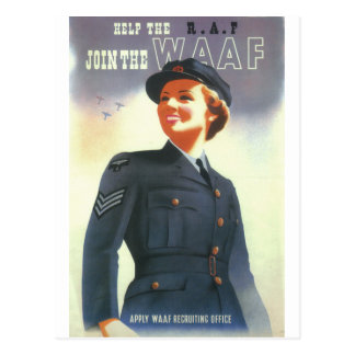 Help the R.A.F. Join the WAAF_Propaganda Poster Postcard
