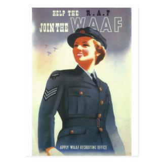 Help the R.A.F. Join the WAAF_Propaganda Poster Postcard