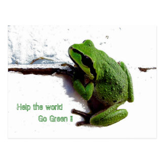Help the World Go Green !! - Frog _ Postcards