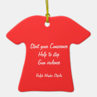 Help to stop gun violence Double-Sided T-Shirt ceramic christmas ornament