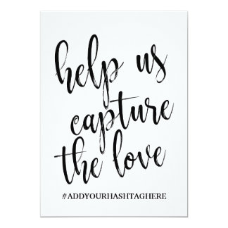 Help us Capture the Love Affordable Sign Card