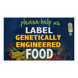 Help Us Label GMO Foods! Poster