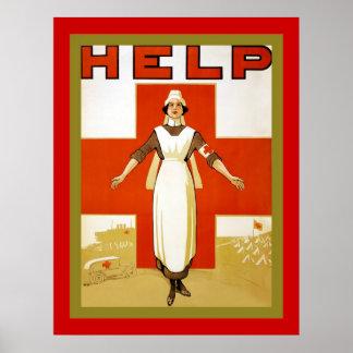 Help ~ Vintage Nurse ~ World War 1 Posters