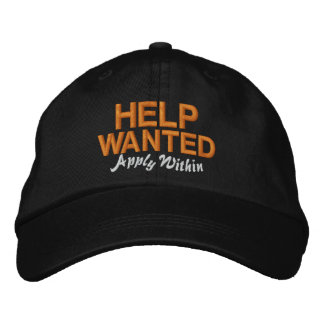 Help Wanted Apply Within Embroidered Hat