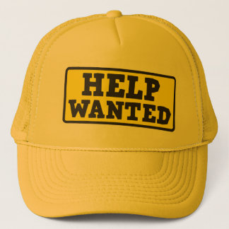 Help wanted sign cap