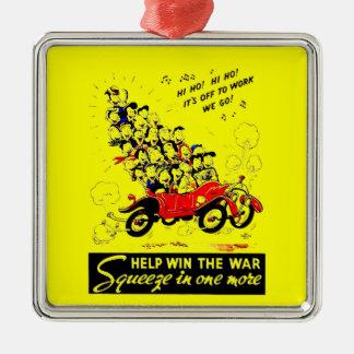 Help Win The War Premium Square Ornament