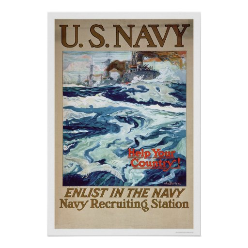 Help Your Country - Enlist in the Navy (US02286B) Poster