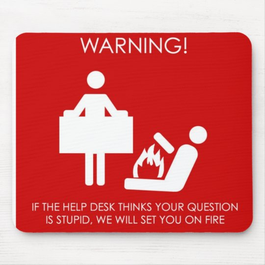 Helpdesk mousemat