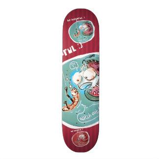 helpful fishbait earthworm funny cartoon custom skateboard