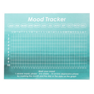 Helpful Mood Tracker For Bipolar Disorder Symptoms Notepads
