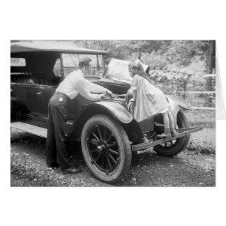 Helping Dad, 1923 Greeting Card