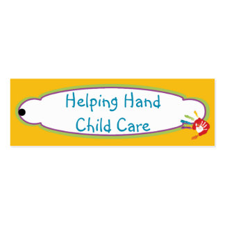 Helping Hand Child Care Hang Tag Pack Of Skinny Business Cards