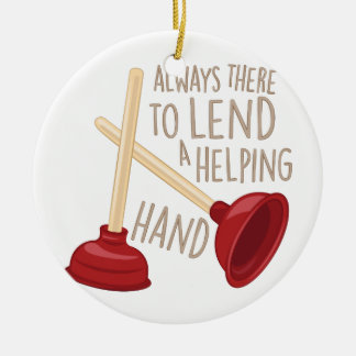 Helping Hand Christmas Ornament