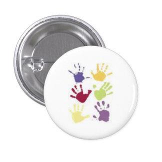 Helping Hands 3 Cm Round Badge