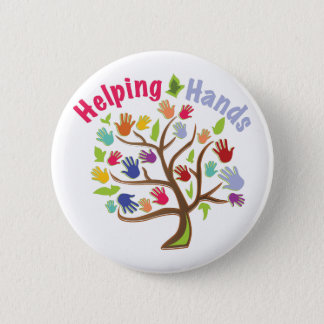 Helping Hands 6 Cm Round Badge