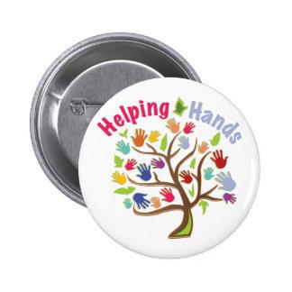 Helping Hands 6 Cm Round Badge