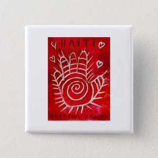 Helping Hands For Haiti 15 Cm Square Badge