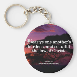 Helping Others in Christ Galatians 6-2 Key Ring