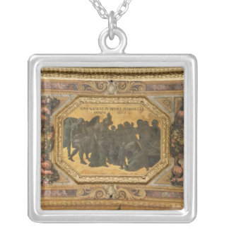 Helping the People during the Famine Silver Plated Necklace