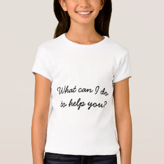 Helping Volunteer Care Concern Charity Typography T-Shirt