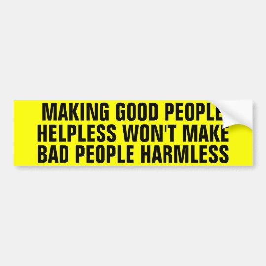 Helpless Good People Bumper Sticker