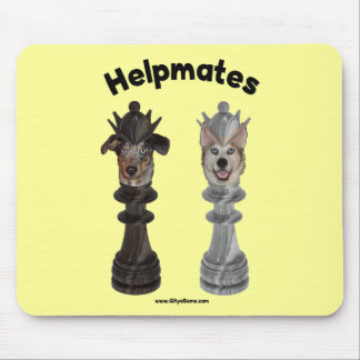 Helpmates Chess Dogs Mouse Pads