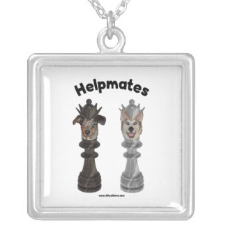 Helpmates Chess Dogs Necklace
