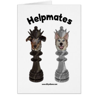 Helpmates Chess Dogs Note Card