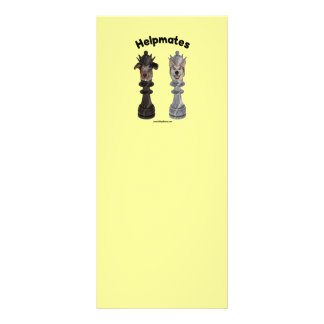 Helpmates Chess Dogs Rack Card Design