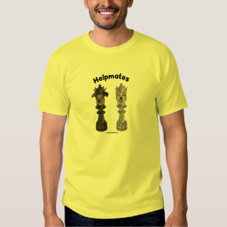 Helpmates Chess Dogs Tee Shirts
