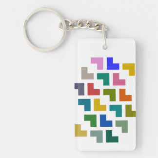 Helpy / Rectangle (double-sided) Keychain
