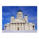 Helsinki Cathedral Tuomiokirkko In Winter Postcard