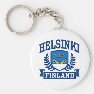 Helsinki Finland Basic Round Button Key Ring