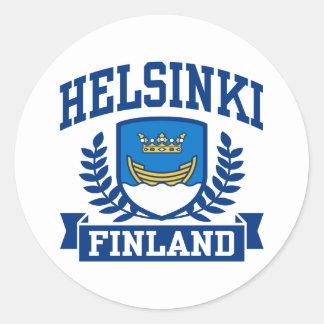 Helsinki Finland Classic Round Sticker