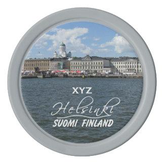 HELSINKI Finland custom monogram poker chips