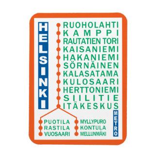 Helsinki Metro Stations magnet