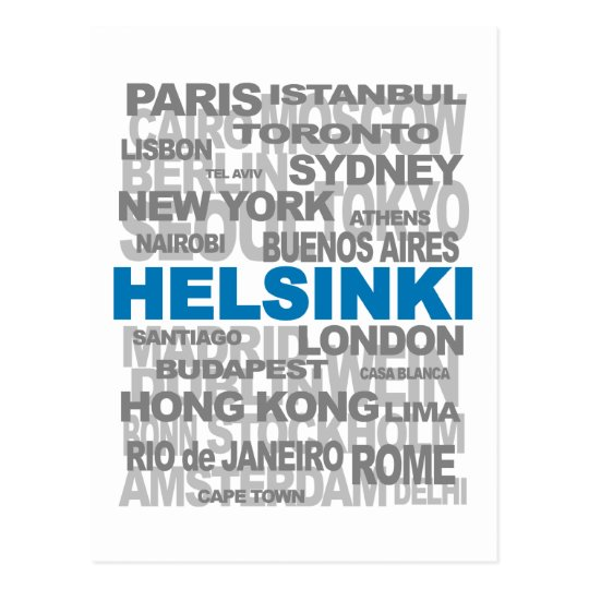 HELSINKI & other cities postcard