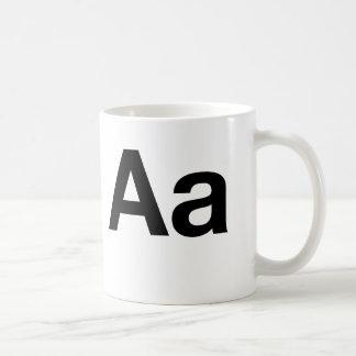 Helvetica Aa Basic White Mug