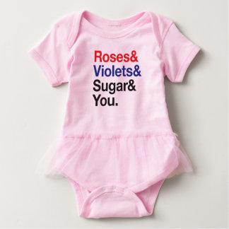 "Helvetica / Ampersand ""Roses Are Red..."" Design Baby Bodysuit"