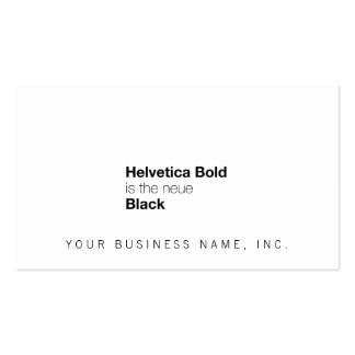Helvetica Bold is the neue Black Pack Of Standard Business Cards